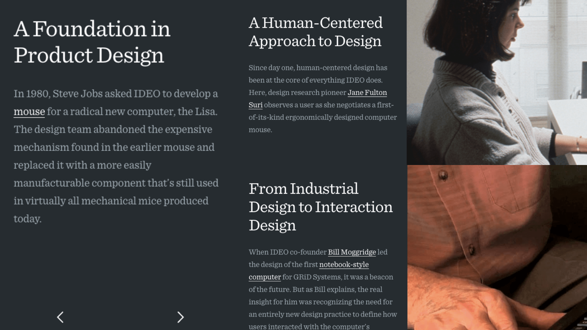 screenshot of ideo as brand storytelling example