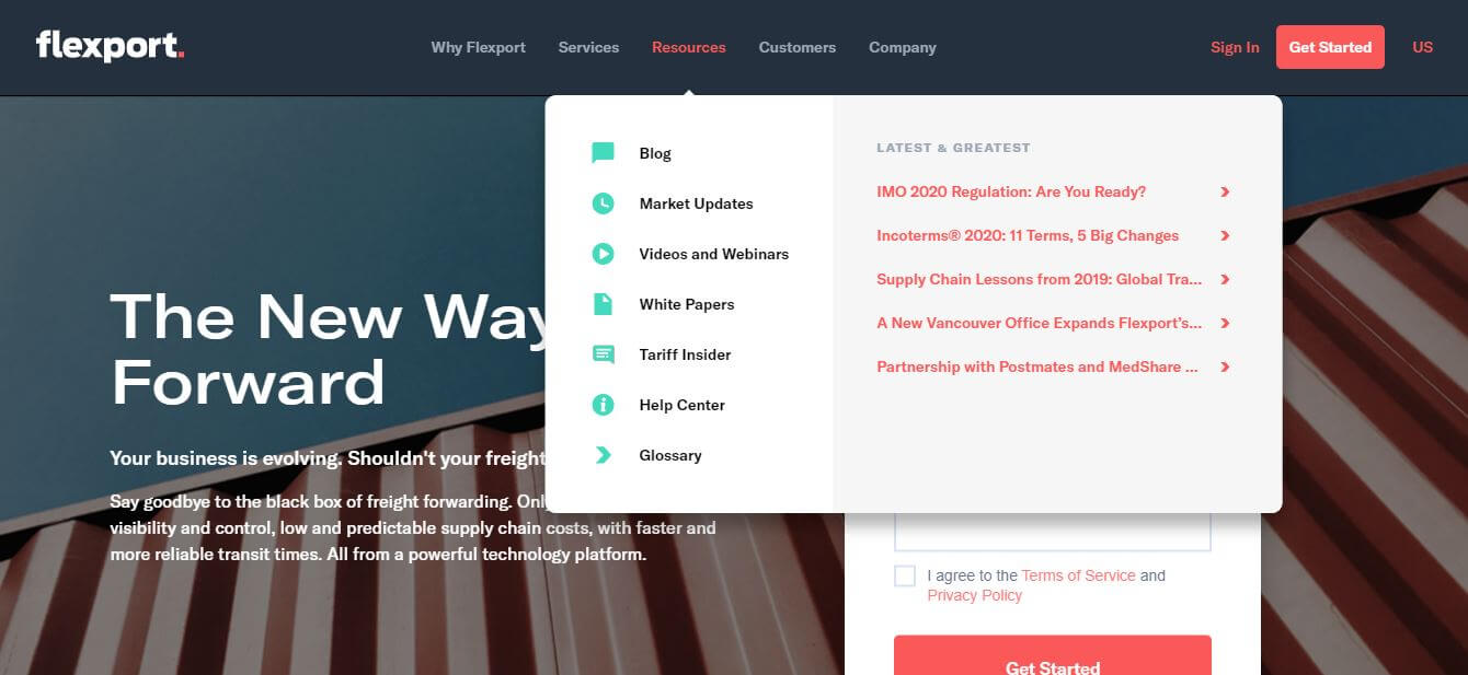Flexport gets content marketing in logistics right with its resources section